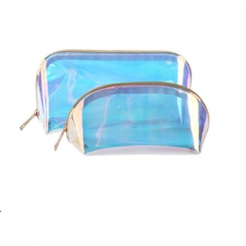 pvc holographic cosmetic bag for women